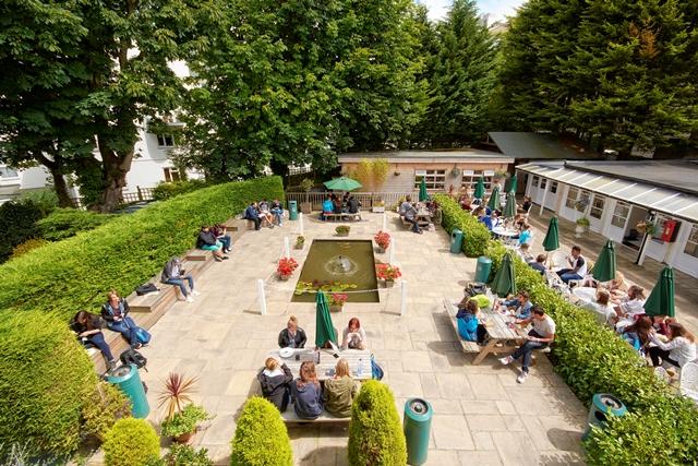 Сад в школе St.Giles